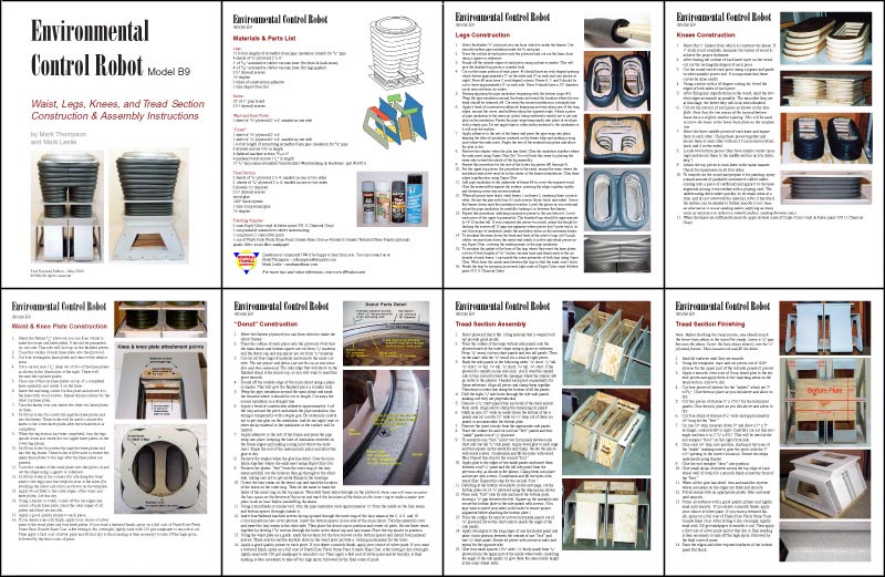 B9 robot templates for Instruction leaflet template
